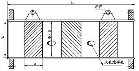 煤气静态混合器结构尺寸